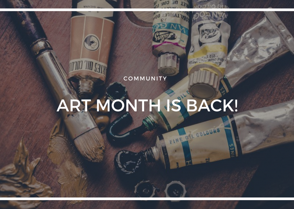 ART MONTH IS BACK FOR 2020