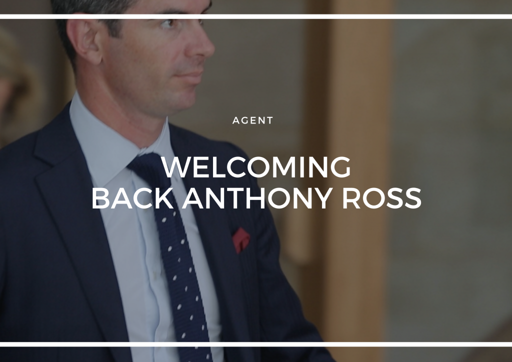 WELCOMING BACK ANTHONY ROSS TO THE C&H FAMILY