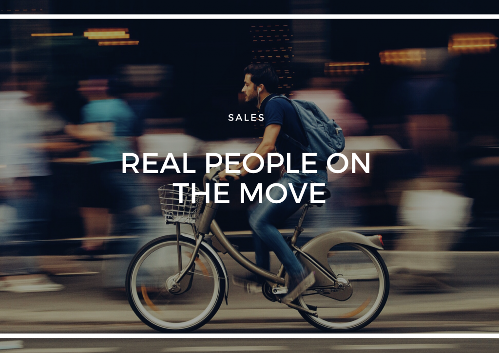 REAL PEOPLE ON THE MOVE