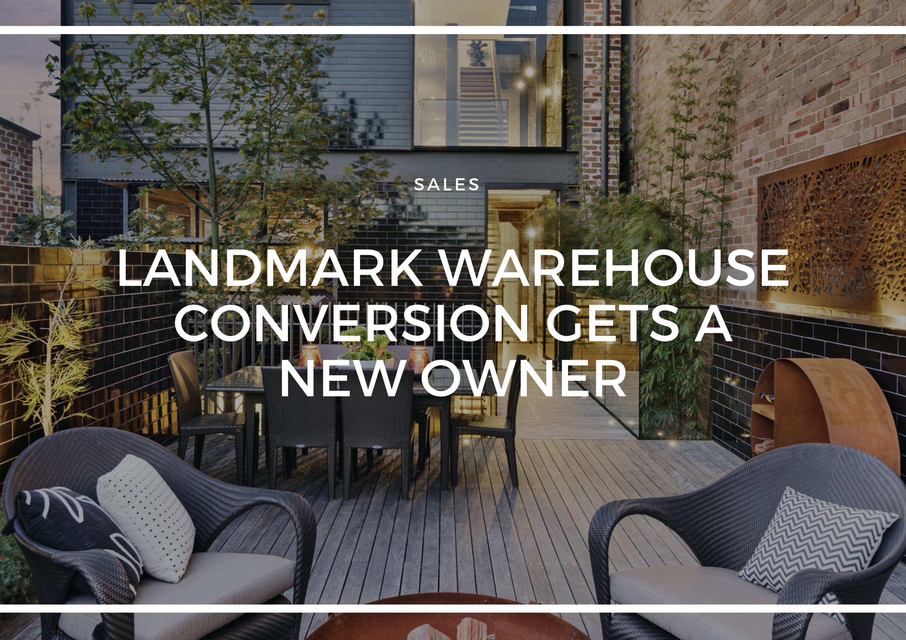 LANDMARK WAREHOUSE CONVERSION GETS A NEW OWNER